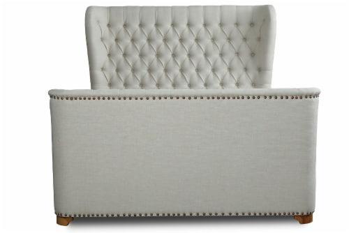 Manhattan Comfort Lola Ivory Full Bed Perspective: back