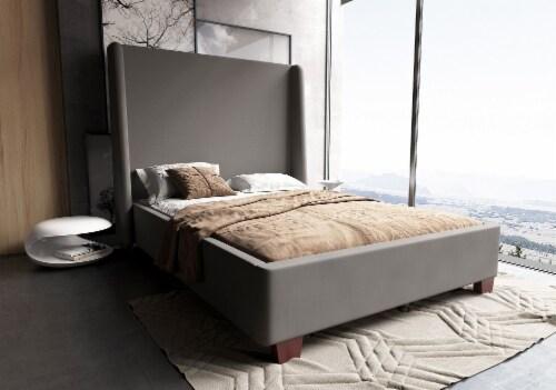 Manhattan Comfort Parlay Portobello Full Bed Perspective: back