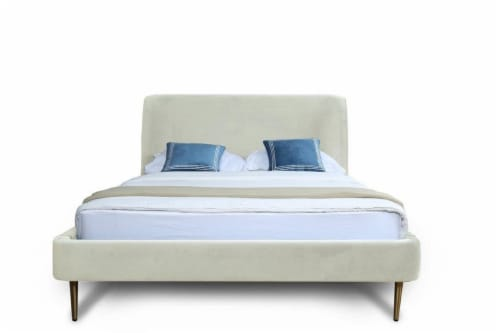 HEATHER FULL-SIZE BED IN CREAM Perspective: back