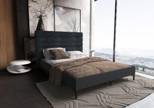 SCHWAMM QUEEN BED IN GREY Perspective: back