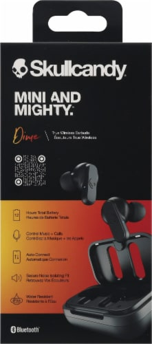 Skullcandy® Dime Black True Wireless Earbuds Perspective: back