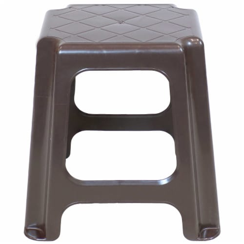 Sunnydaze Brown Plastic Step Stool - Set of 2 - 260-Pound Capacity - 16-Inch Perspective: back