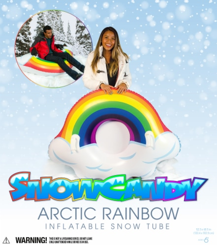 SnowCandy Inflatable Arctic Rainbow Inflatable Snow Sled Perspective: back