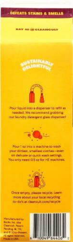 Cleancult Juniper Sandalwood Liquid Laundry Detergent Refill Perspective: back