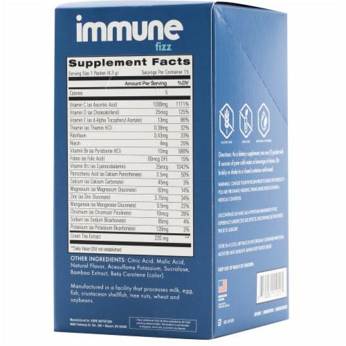 Kore Nutrition Immune Fizz Natural Orange Flavor Stickpacks Perspective: back