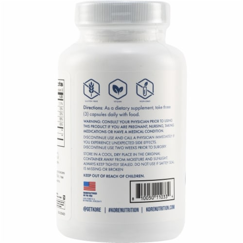 Kore Nutrition Joint Flex Capsules Perspective: back