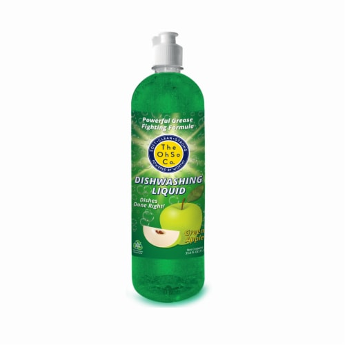 The Ohso Co. 33.8oz Dish Soap - Green Apple Perspective: back