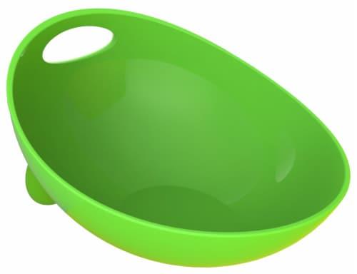 Pet Life 'Modero' Dishwasher Safe Modern Tilted Dog Bowl, Blue Perspective: back
