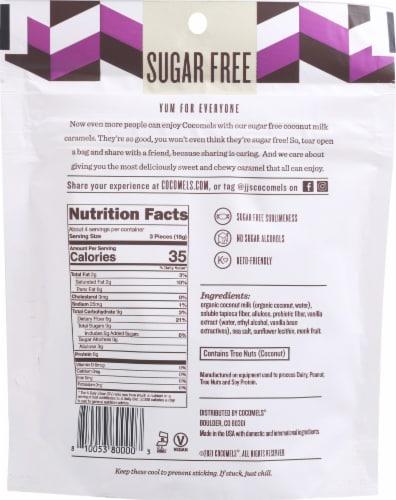 Cocomels Gluten Free Sugar Free Original Coconut Milk Caramels Perspective: back