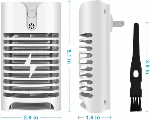 Indoor Insect Killer Plug-in Bug Zapper Electric Mosquito Killer Lamp with Light Sensor - 2pk Perspective: back