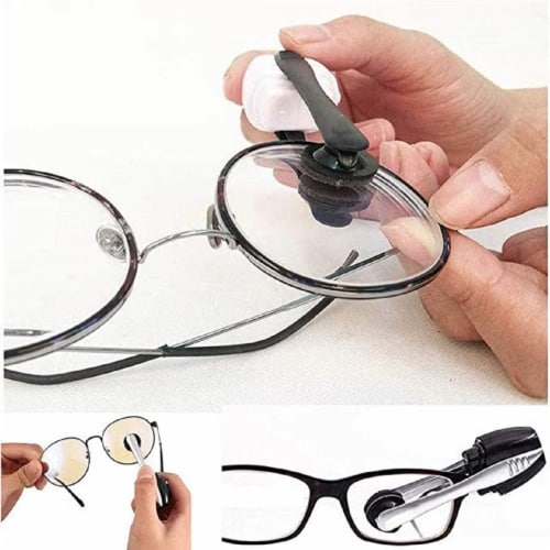 CarbonKlean Eyeglass Lens Cleaner - Efficient and Durable Carbon Microfiber Technology Perspective: back