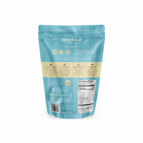 Keystone Pantry Vanilla keto smoothie mix 2 pound pouch certified kosher dairy (kof-k) Perspective: back