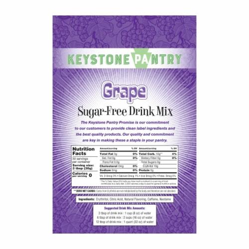 Keystone Pantry Sugar-Free Drink Mix Grape Perspective: back
