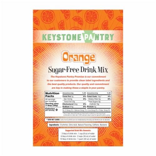 Keystone Pantry Sugar-Free Drink Mix Orange Perspective: back