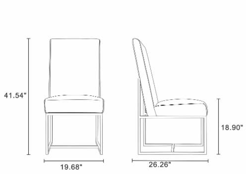 Manhattan Comfort Element Grey Dining Chairs (Set of 6) Perspective: back