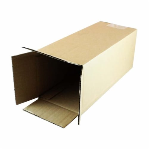 EcoSwift 4 x 4 x 18 Inch Corrugated Cardboard Packing Boxes for Moving (50 Pack) Perspective: back