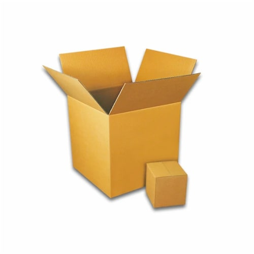 EcoSwift 5 x 5 x 5 Inch Corrugated Cardboard Packing Boxes for Moving (100 Pack) Perspective: back