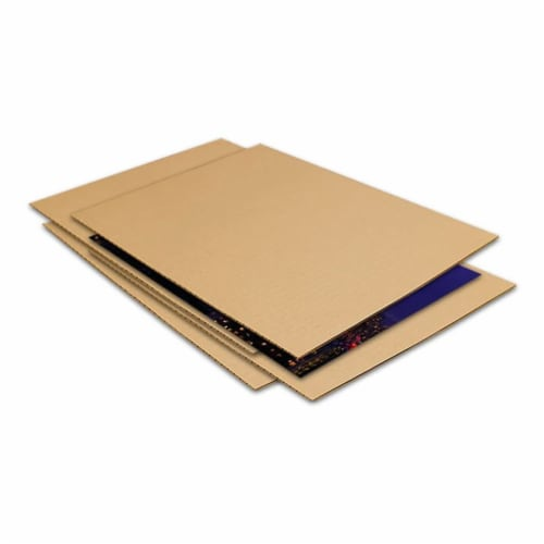 EcoSwift 8.5 x 11 x 0.12 Inch Corrugated Cardboard Pads for Moving (100 Pack) Perspective: back