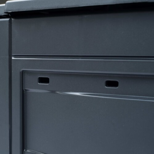 "vidaXL Garden Composter Gray 23.6""x23.6""x28.7"" 68.7 gal Perspective: back"