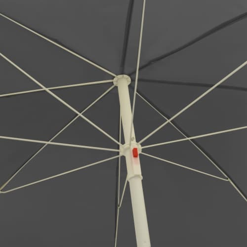 vidaXL Beach Umbrella Anthracite 94.5 Perspective: back