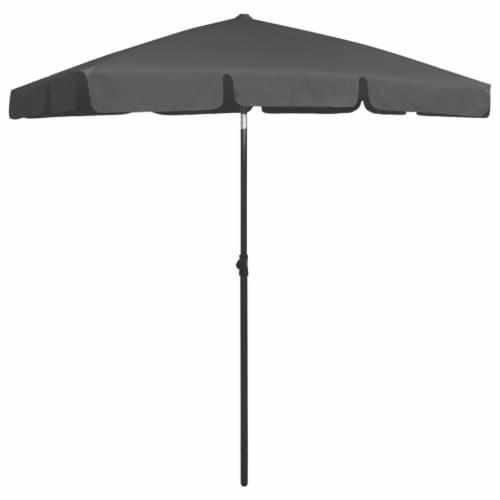 vidaXL Beach Umbrella Anthracite 70.9 x47.2 Perspective: back