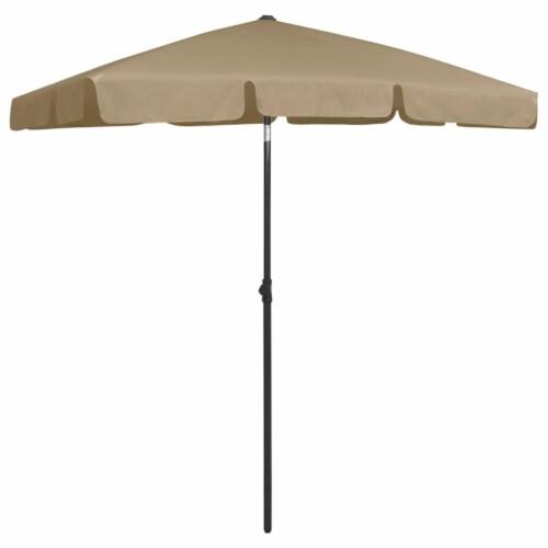 vidaXL Beach Umbrella Taupe 70.9 x47.2 Perspective: back