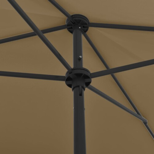 vidaXL Beach Umbrella Taupe 78.7 x49.2 Perspective: back