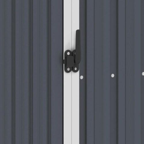 vidaXL Garden Shed Anthracite 34.3 x38.6 x62.6  Galvanized Steel Perspective: back
