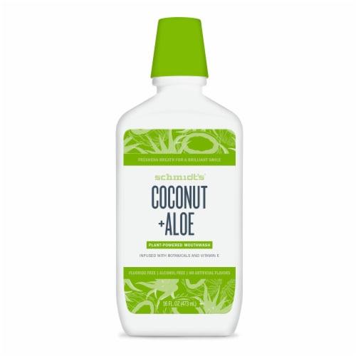 Schmidt's Coconut + Aloe Fluoride-Free Mouthwash Perspective: back