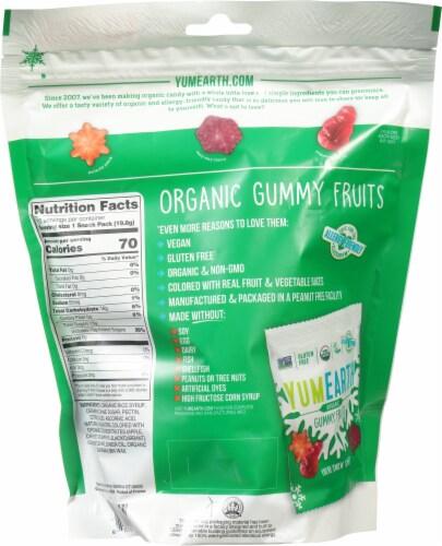 Yum Earth Organic Gummy Fruits Perspective: back