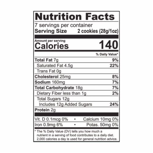 Tate's Bake Shop Chocolate Chip Cookies Perspective: back