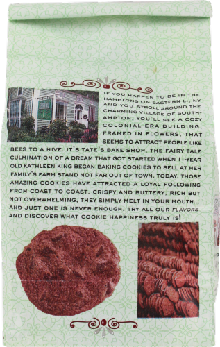 Tate's Bake Shop Whole Wheat Dark Chocolate Cookies Perspective: back