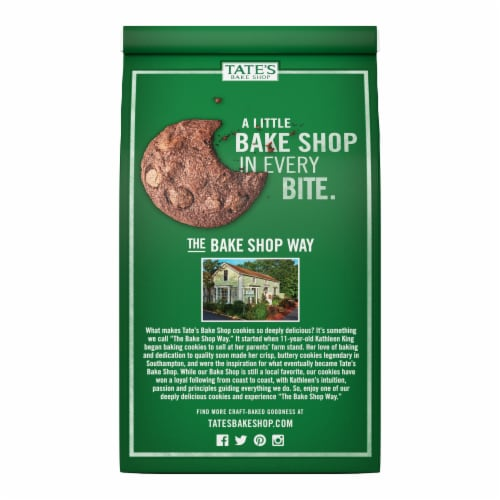 Tate's Bake Shop Double Chocolate Chip Cookies Perspective: back