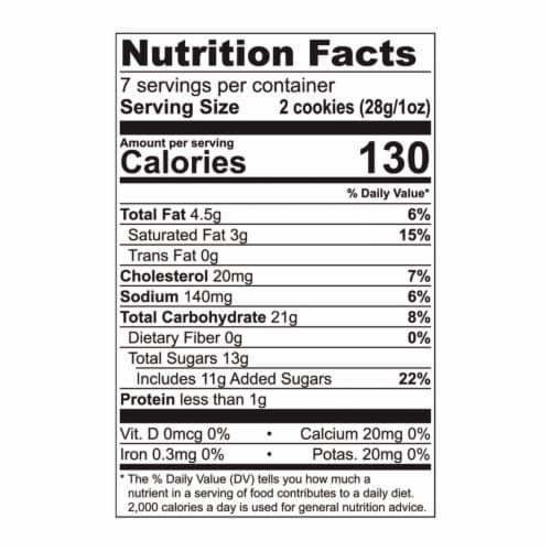 Tate's Bake Shop Gluten Free Ginger Zinger Cookies Perspective: back