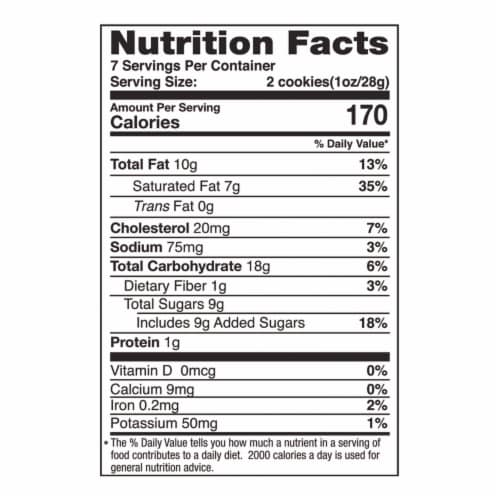 Tate's Bake Shop Gluten Free Coconut Crisp Cookies Perspective: back