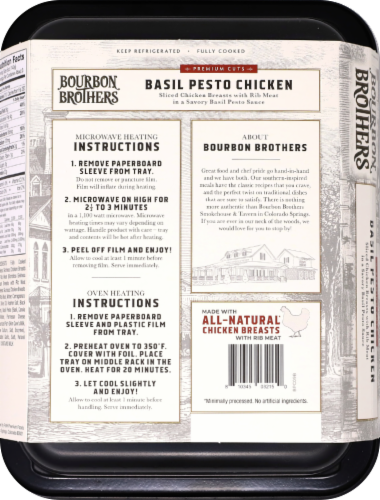 Bourbon Brothers All Natural Basil Pesto Chicken Perspective: back