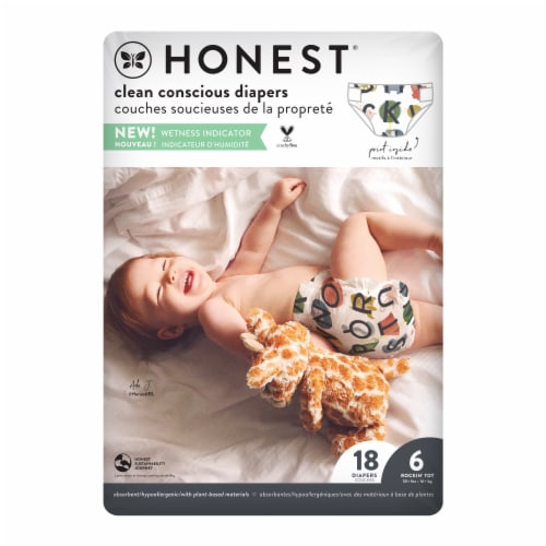 The Honest Company Honest Gentle + Absorbent Size 6 Diapers Perspective: back