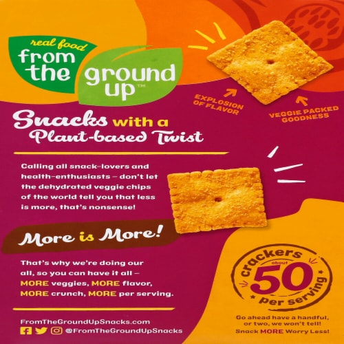 From The Ground Up Butternut Squash Parmesan Crackers Perspective: back
