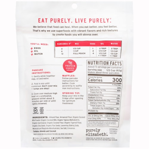 Purely Elizabeth Paleo Grain-Free Pancake Mix Perspective: back