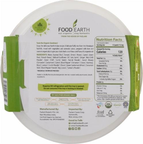 Food Earth Organic Indian Vegetable Biryani Perspective: back