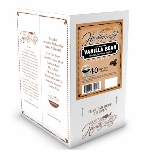 Hamilton Mills Vanilla Bean Coffee Pods, 2.0 Keurig K-Cup Brewer Compatible, 40 Count Perspective: back