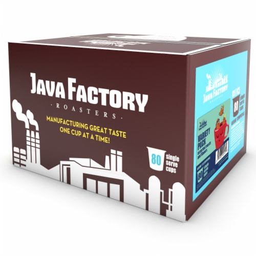 Java Factory Assorted Coffee Pods, Variety Pack for Keurig K-Cup Brewers, 80 Count Perspective: back