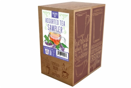 Two Rivers Assorted Tea Sampler Pack for Keurig K-Cup Brewers, 40 Count Perspective: back
