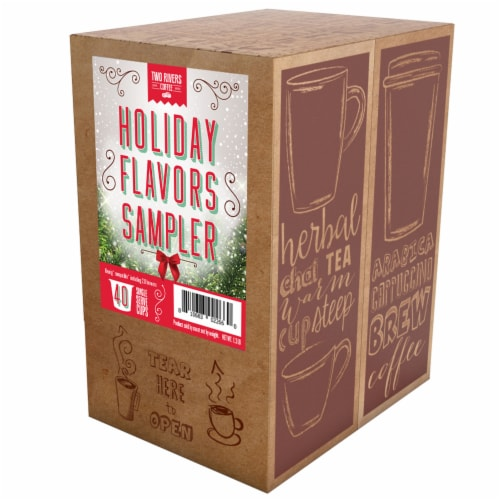 Two Rivers Holiday Flavors Variety Pack, Compatible with 2.0 Keurig K-Cup Brewers, 40 Count Perspective: back