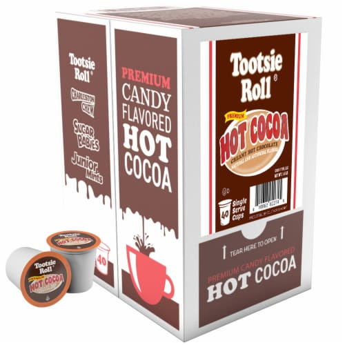 Tootsie Roll Hot Cocoa Pods for Keurig K-Cups Brewer, Hot Chocolate, 40 Count Perspective: back