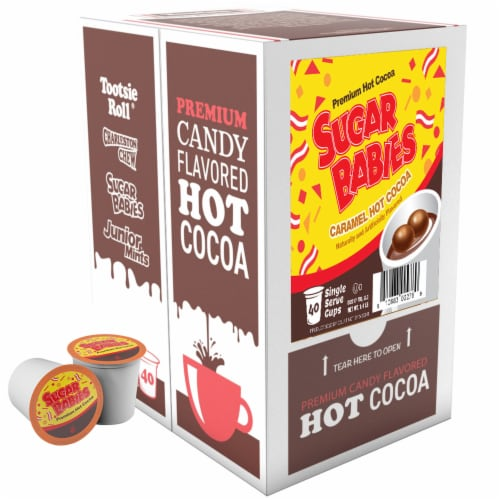 Sugar Babies Hot Cocoa for Keurig K-Cups Brewer 40 Count Perspective: back