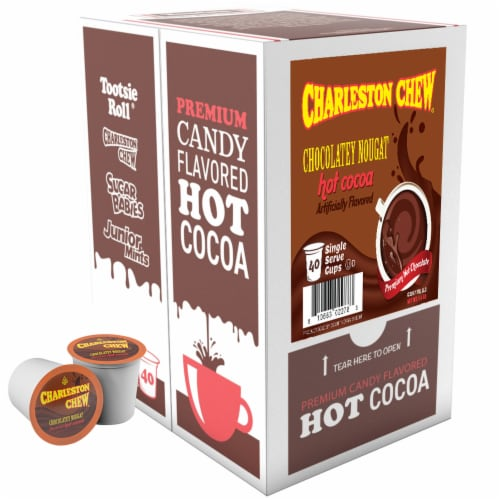 Charleston Chew Chocolate Hot Cocoa for Keurig K-Cup Brewers, 40 Count Perspective: back