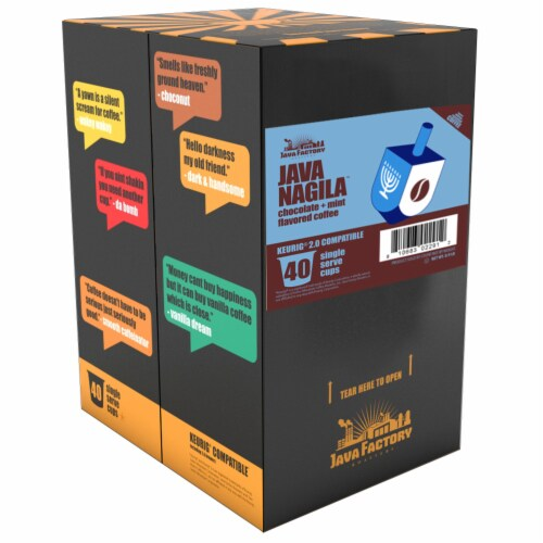 Java Factory Java Nagila Single-Cup Coffee for Keurig K-Cup Brewers, 40 Count Perspective: back