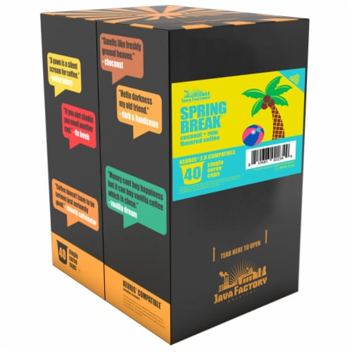 Java Factory Spring Break Single-Cup Coffee for Keurig K-Cup Brewers, 40 Count Perspective: back
