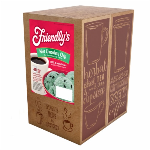 Friendly's Ice Cream Flavored Coffee Pods for Keurig 2.0, Mint Chocolate Chip, 40 Count Perspective: back